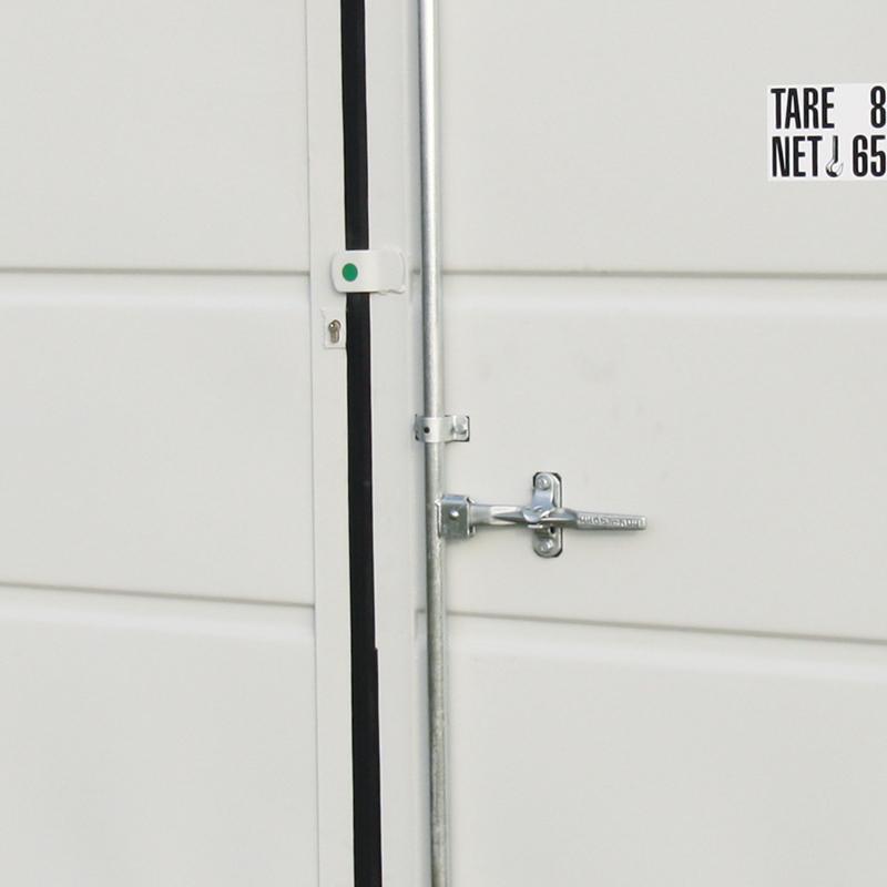 Lagercontainer Sicherheitspaket Nahaufnahme